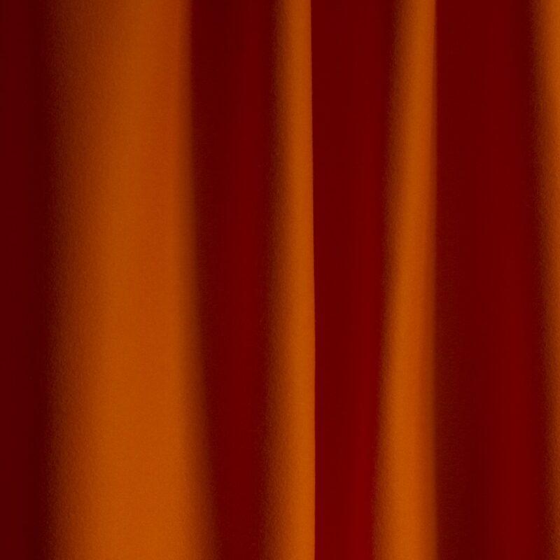 extra wide broadcloth orange baize ruffled