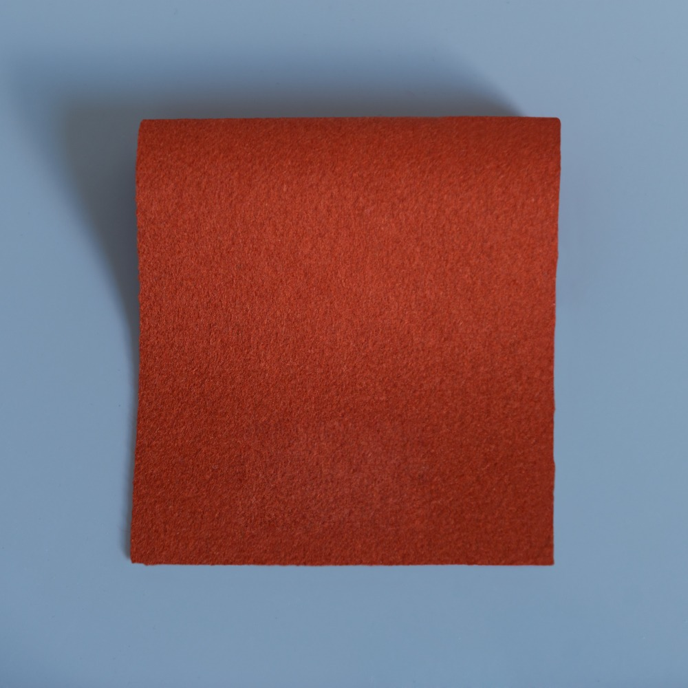 Extra Wide Broadcloth Paprika baize for fashion, millinery and interior design