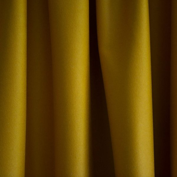 Merino Wool Baize Ruffled - Pollen Yellow