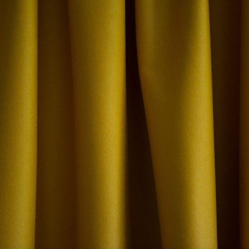 Merino Wool Baize Ruffled - Pollen Yellow