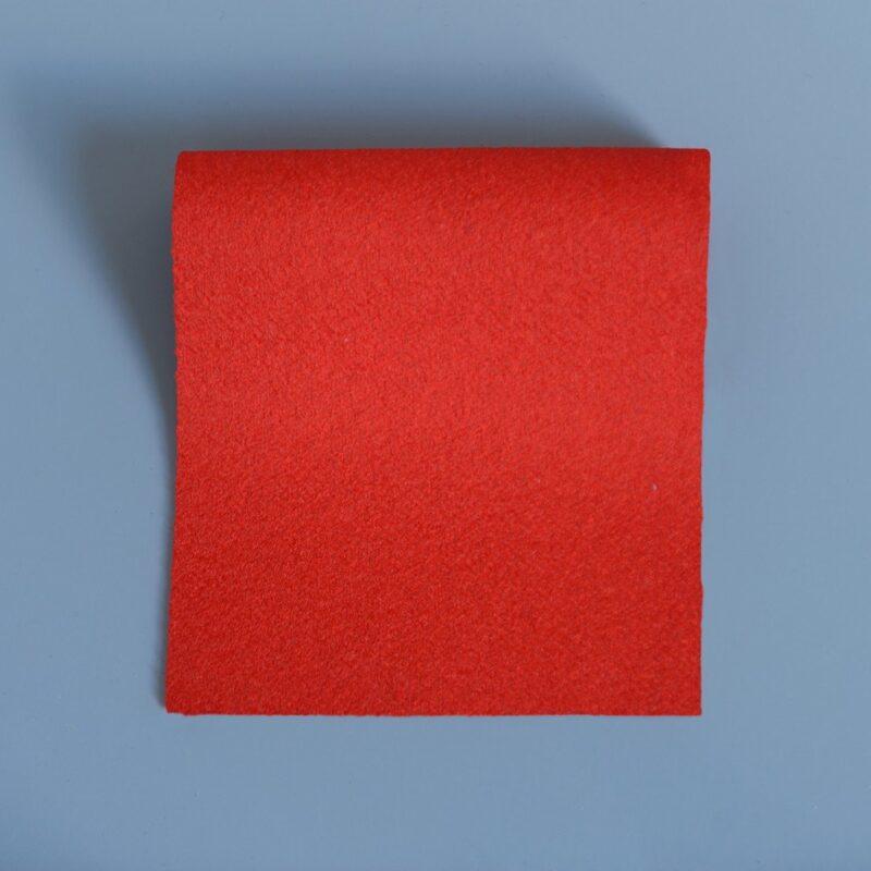 Doe Skin Baize Swatch Bright Scarlet