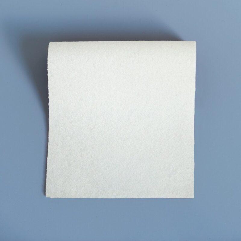 Doe Skin Baize Swatch White