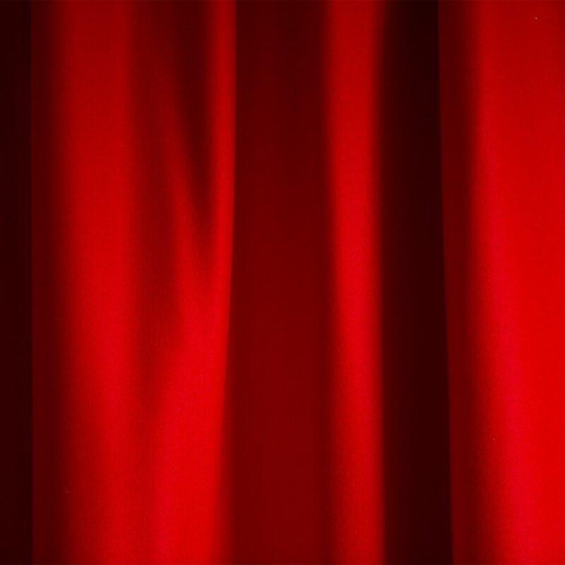 Merino Wool Baize Ruffled - Bright Scarlet