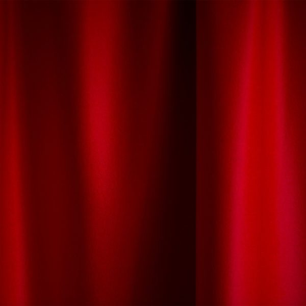 Merino Wool Baize Ruffled - Bright Red
