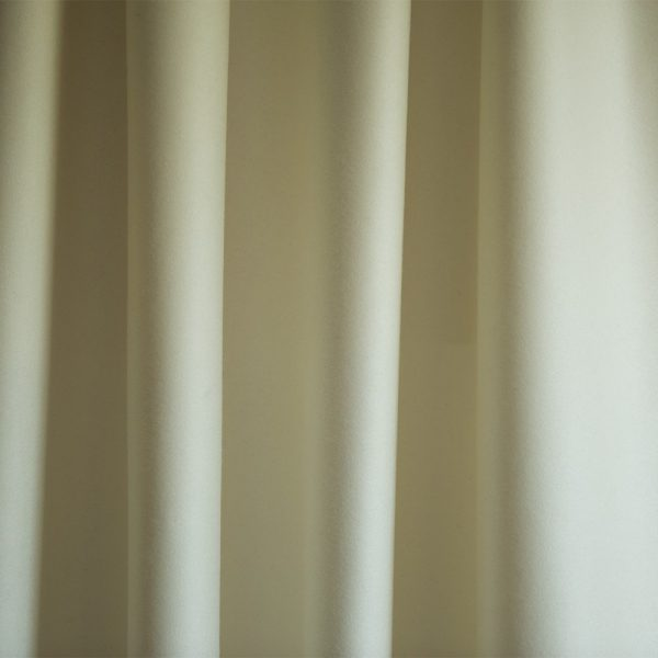 Merino Wool Baize Ruffled - White