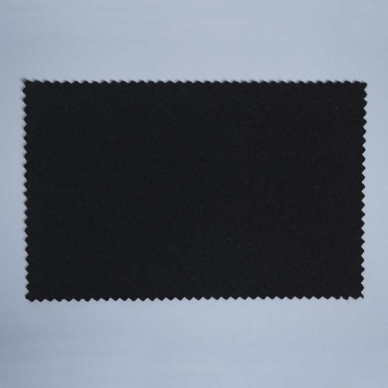 Extra Wide Broadcloth Black Baize for fashion, millinery and interior design