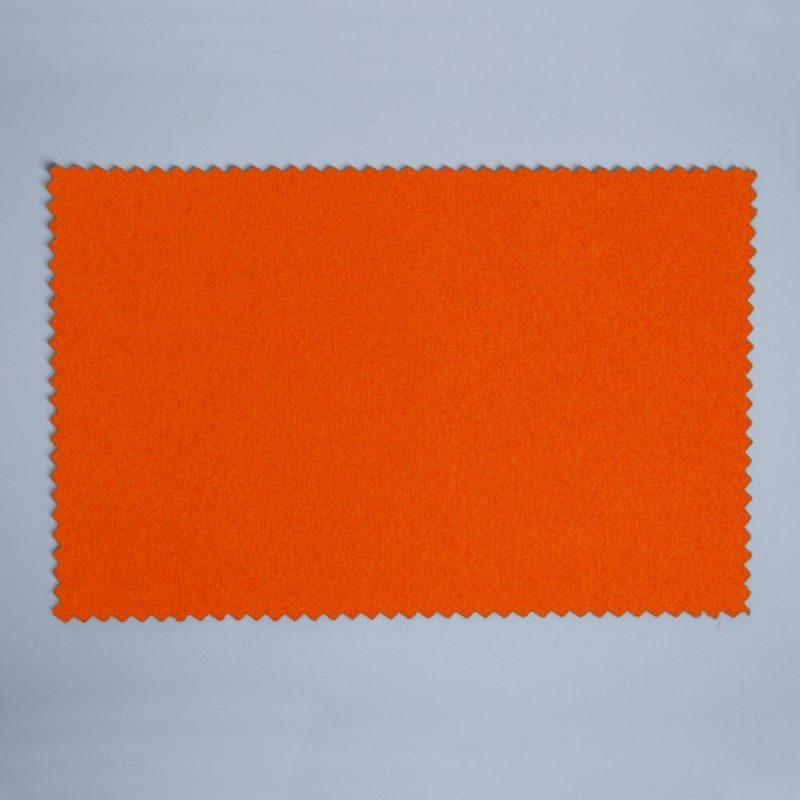 Extra Wide Broadcloth Bright Orange baize for fashion, millinery and interior design