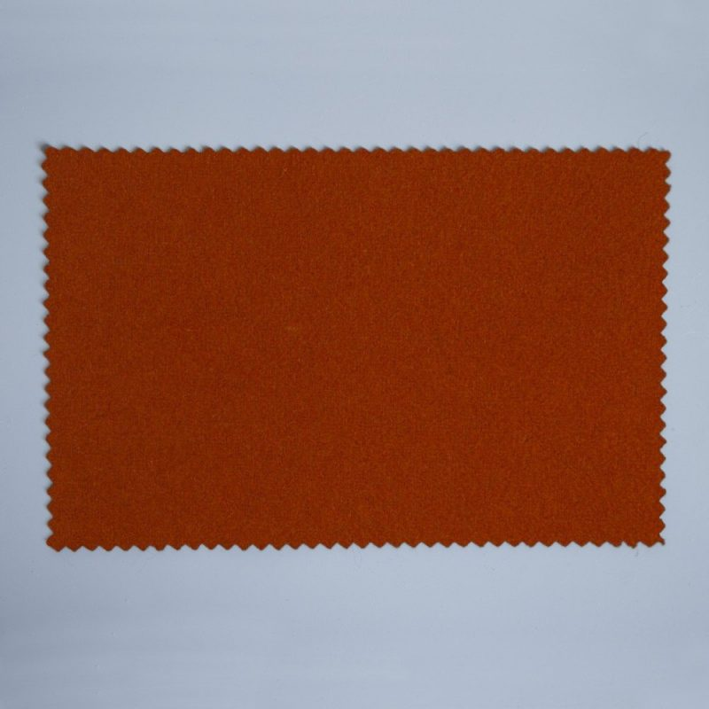 Extra Wide Broadcloth Burnt Orange baize for fashion, millinery and interior design