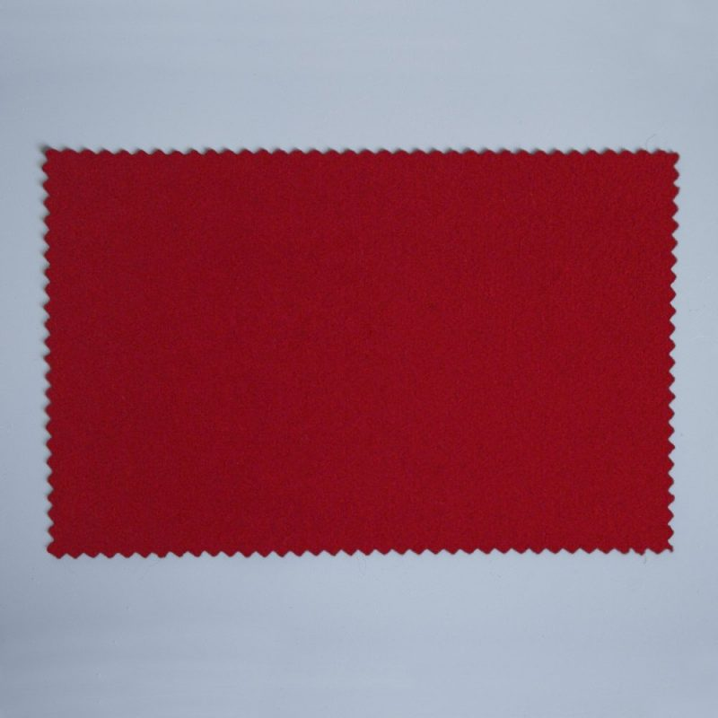 Extra Wide Broadcloth Deep Scarlet baize for fashion, millinery and interior design