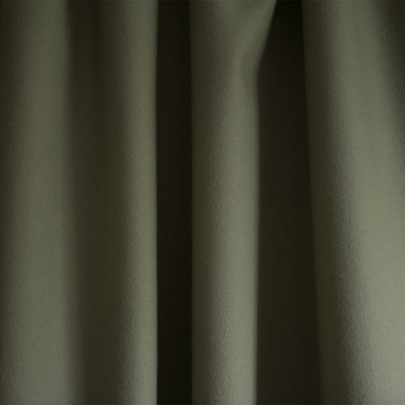 Extra Wide Broadcloth Green Clay baize ruffled for fashion, millinery and interior design