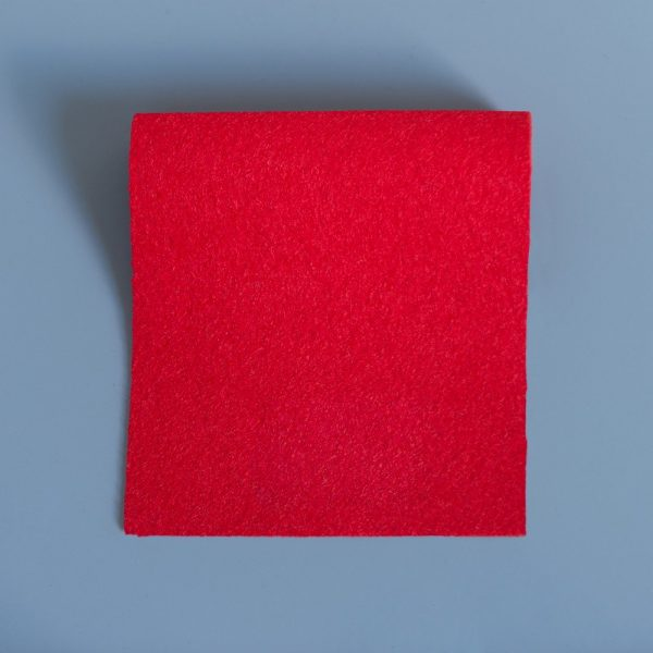 Extra Wide Broadcloth Red baize for fashion, millinery and interior design