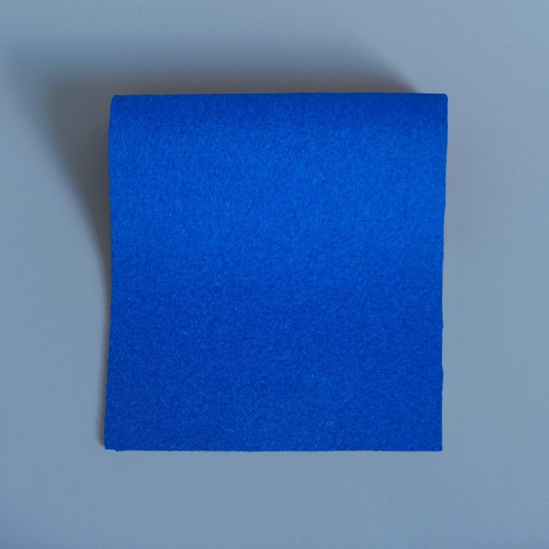 Extra Wide Broadcloth Royal Blue baize for fashion, millinery and interior design