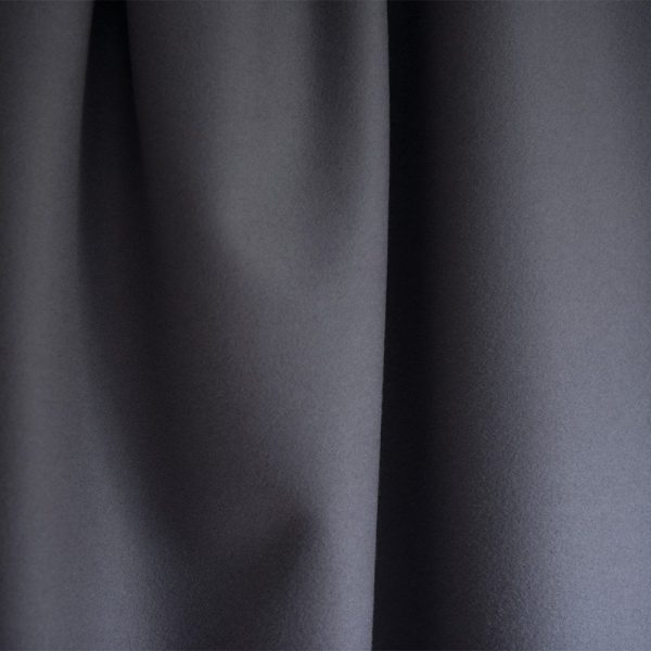 Extra Wide Broadcloth Smoke Grey baize ruffled for fashion, millinery and interior design