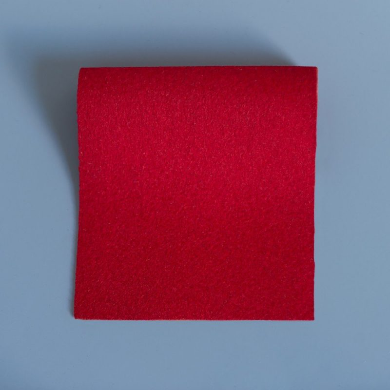 Extra Wide Broadcloth Windsor Red baize for fashion, millinery and interior design