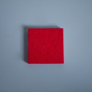 Extra Thick Felt Fire Red