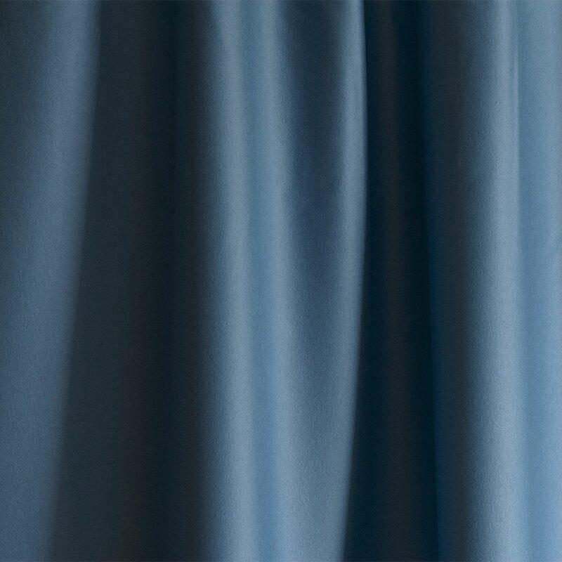 Merino Wool Baize Ruffled - Minerva Blue