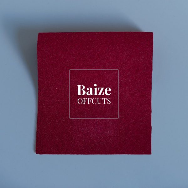Burgundy Baize Remants and Offcuts