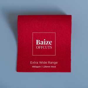 Baize Offcuts – Deep Scarlet