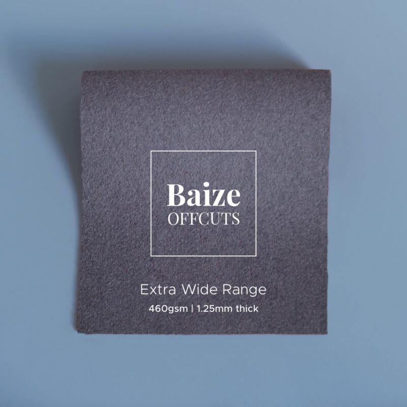 baize offcuts remnants smoke grey