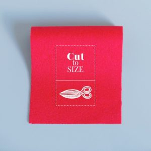 Cloth Cut to Size – Bright Red Merino Wool Baize
