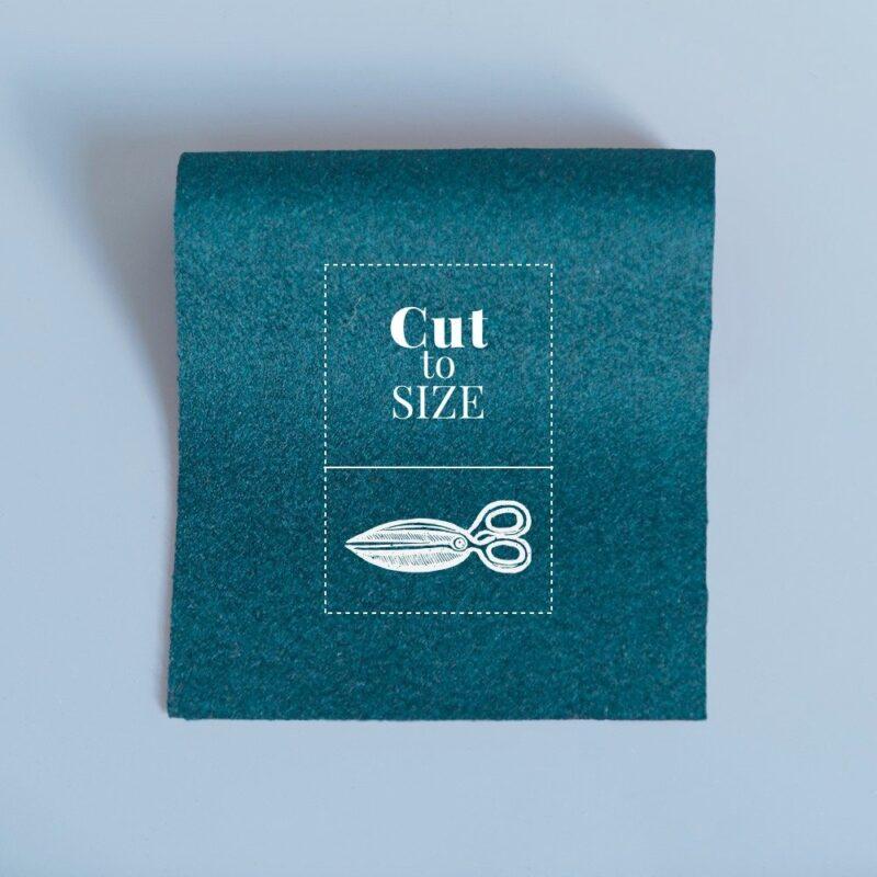 cloth cut to size hunter green merino wool baize