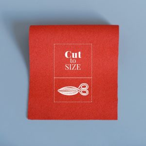 Cloth Cut to Size – Medium Scarlet Merino Wool Baize