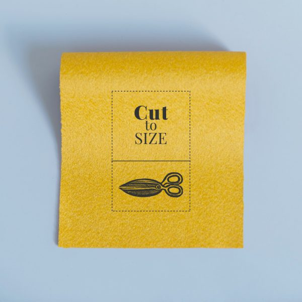 cloth cut to size pollen yellow merino wool baize