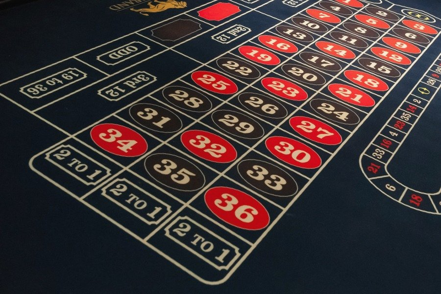 Printing on baize a Roulette Table layout
