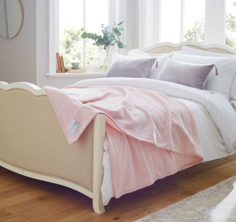 John Atkinsion Siesta Double Pink Draped on Bed