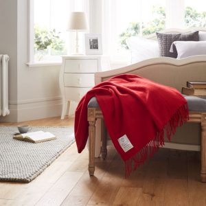 John Atkinson Twill and Granite Merino Wool Throws