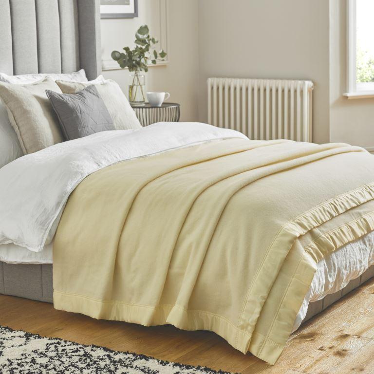 John Atkinson Duchess Blanket White on Bed