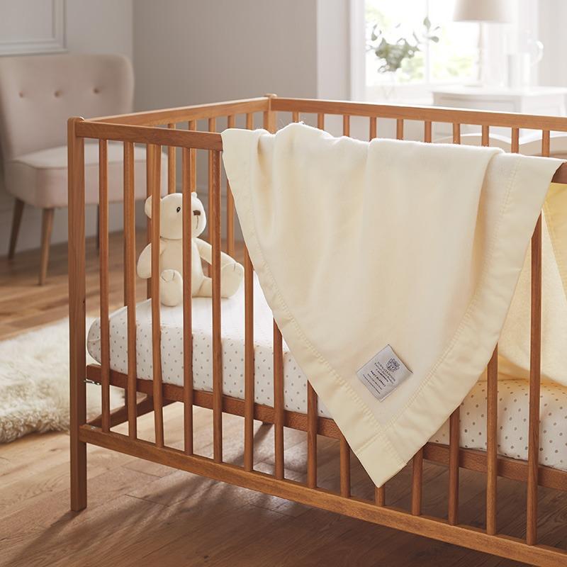 John Atkinson Luxury Baby Blankets with satin trim