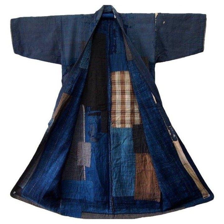 vintage japanese boro kimono