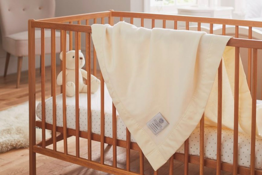 luxury baby blankets with satin trim