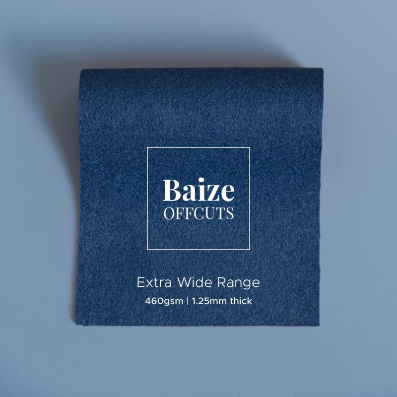 baize offcuts remnants blue grey