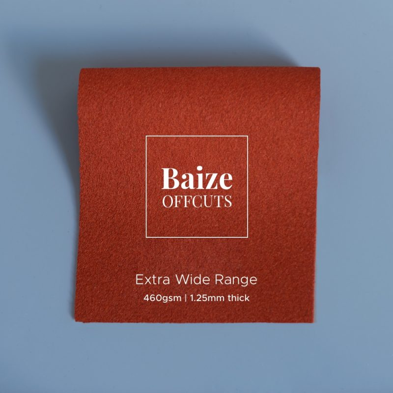 baize offcuts remnants extra wide burnt orange