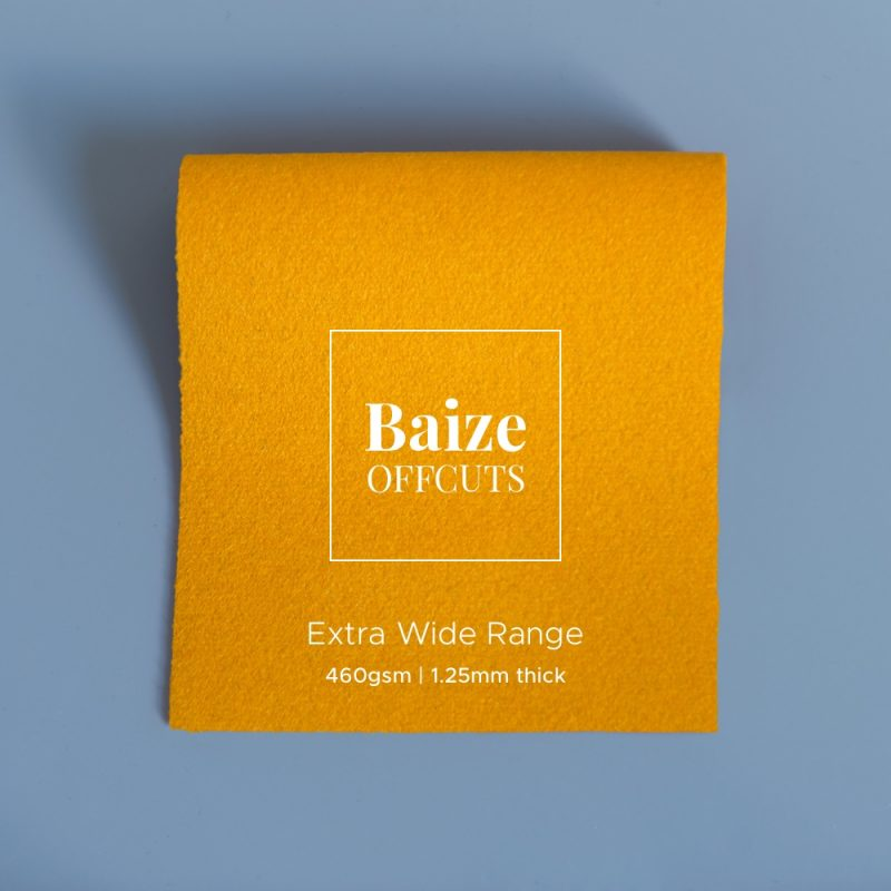 extra wide baize offcuts remnants pollen yellow