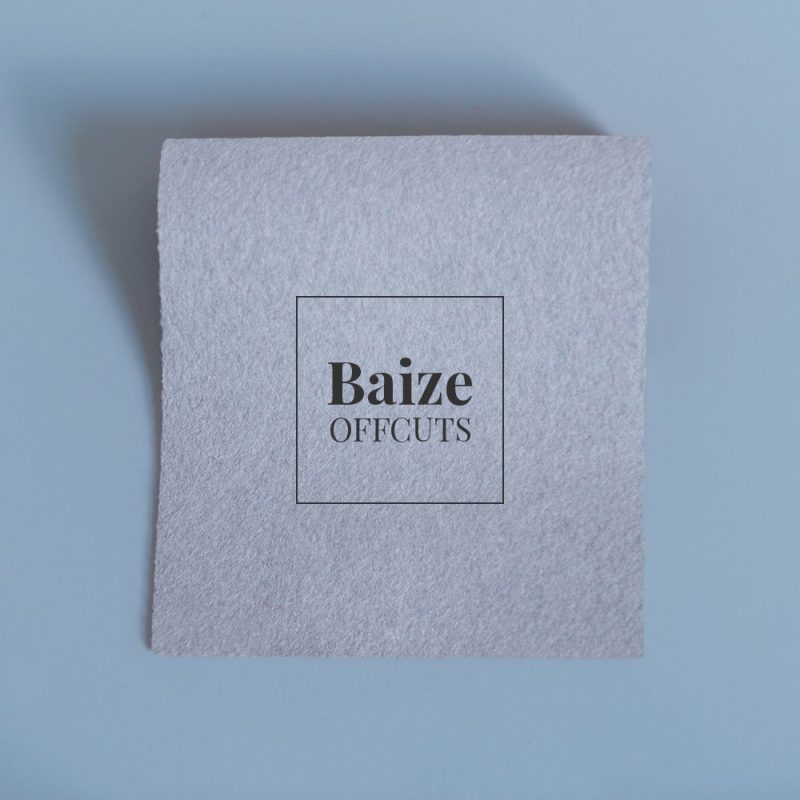 baize offcuts remnants pewter grey