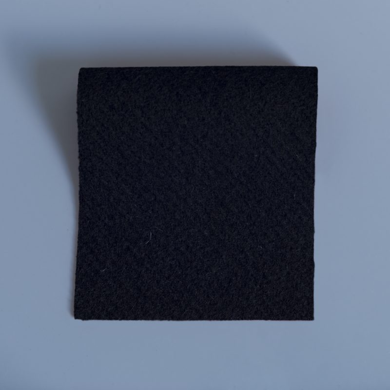 Black Duffle Fabric - soft warm and hardwearing