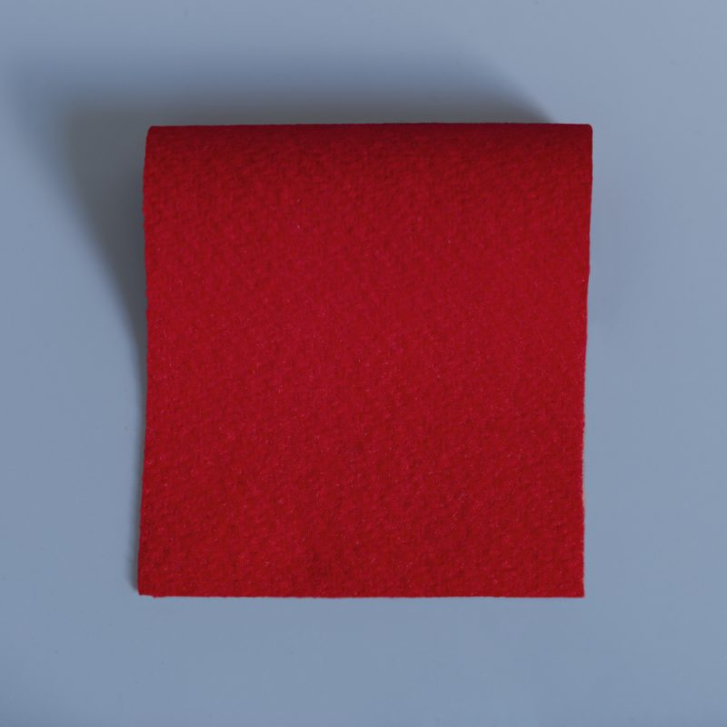 Red Duffle Fabric - soft warm and hardwearing