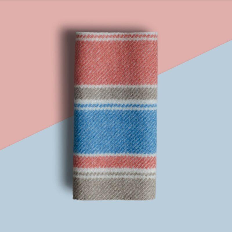 Vibrant Striped Duffle Fabric - soft warm and hardwearing