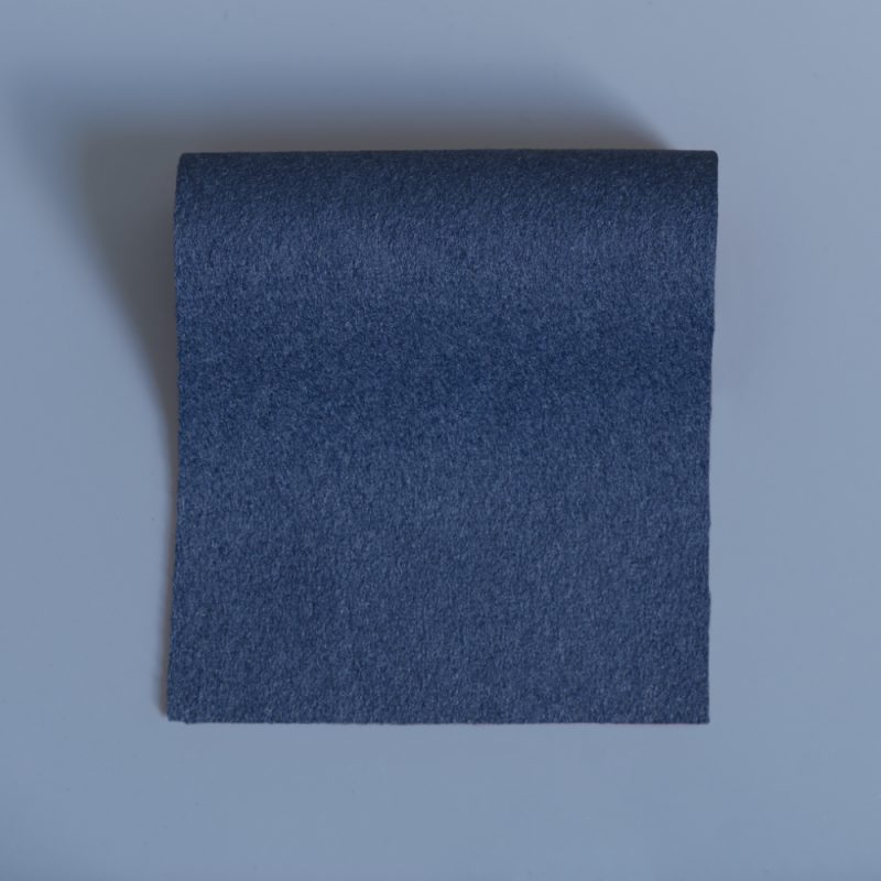 Extra Wide Broadcloth Grey Blue baize swatch