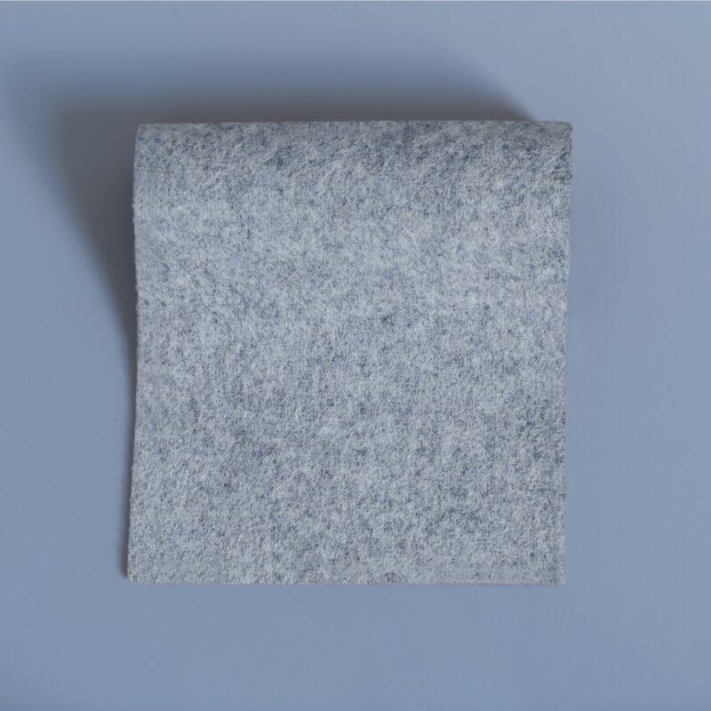 Lightweight melton marble melange light grey