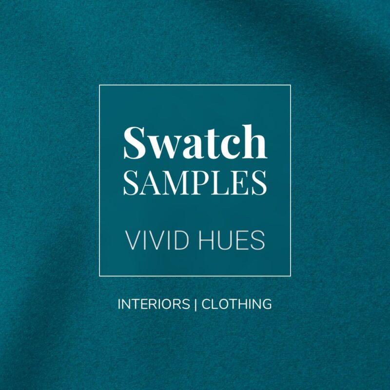 Vivid Hues Baize Fabric Swatch Samples