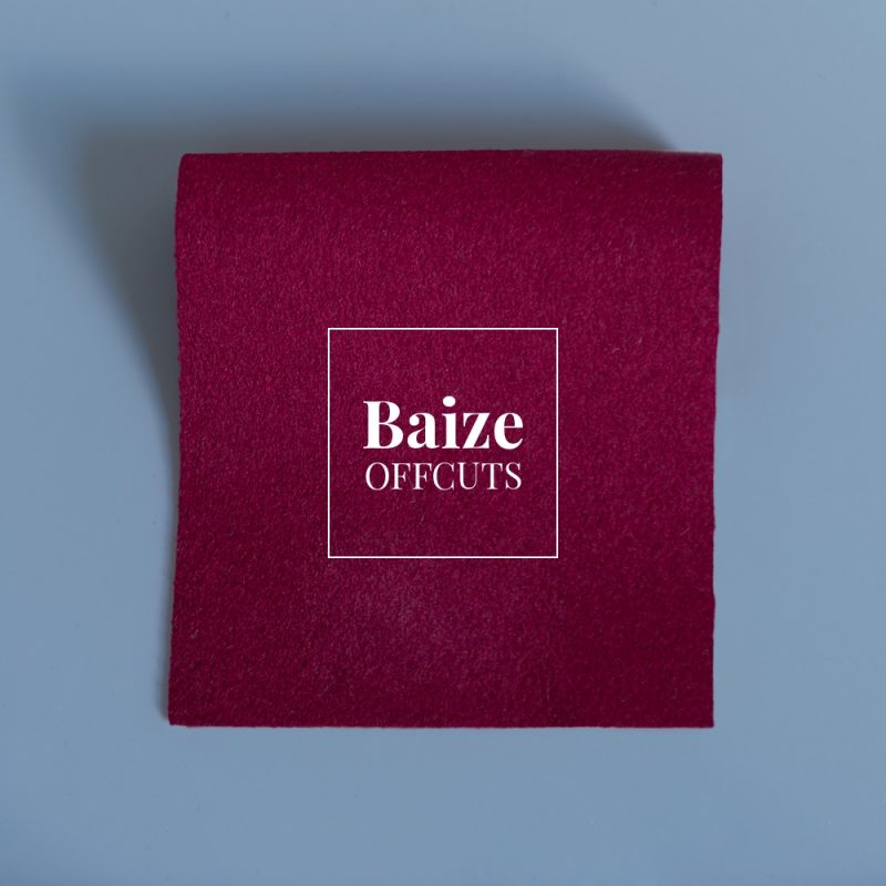 baize offcuts remnants claret red