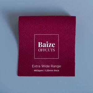 Baize Offcuts – Claret