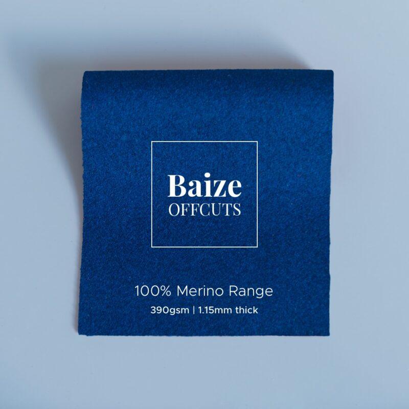baize offcuts remnants 100 percent merino peacock blue