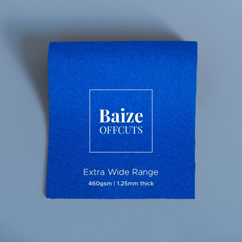 baize offcuts remnants extra wide electric blue