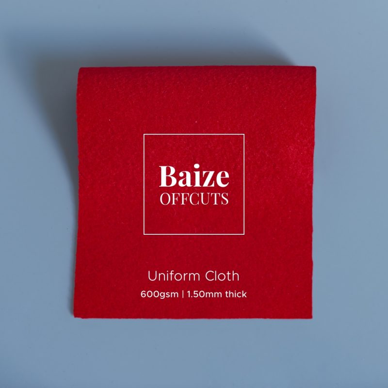 baize offcuts remnants uniform red featured