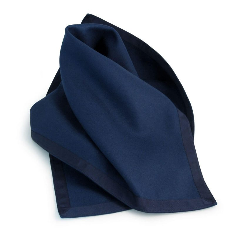Navy Blue Baize Bridge Cloth with Blue Petersham Edging